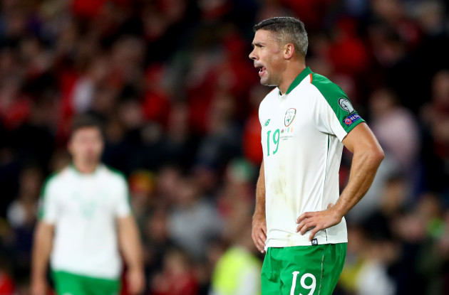 Jonathan Walters dejected after the game