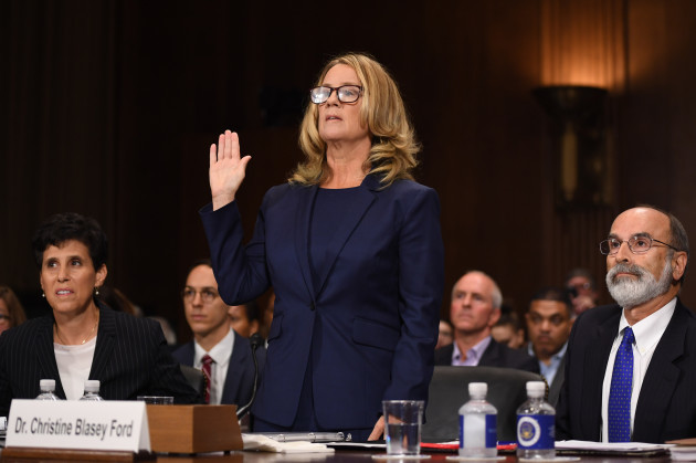 Christine Blasey Ford, the woman accusing Supreme Court nominee Brett...