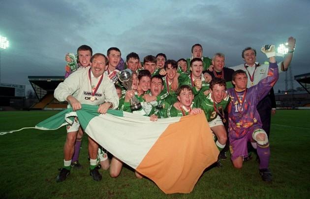The Irish Team European Championship Under-16 Final 8/5/1998 Republic of Ireland v Italy.