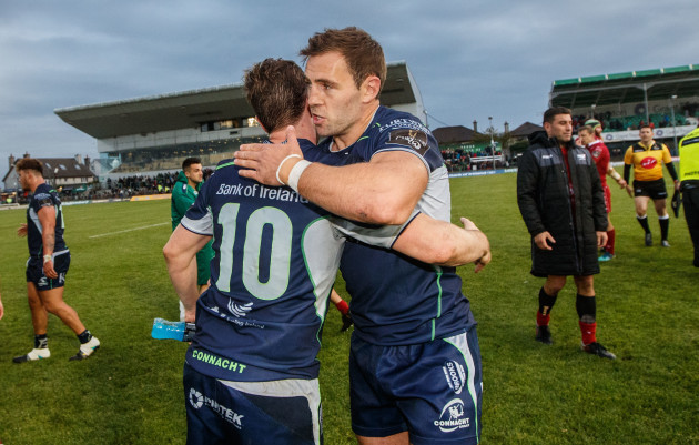 Jack Carty and Craig Ronaldson after the game