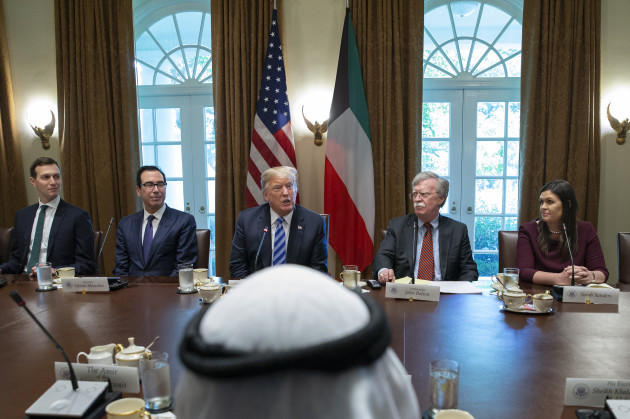 President Trump has expanded bilateral meeting with the Emir of Kuwait