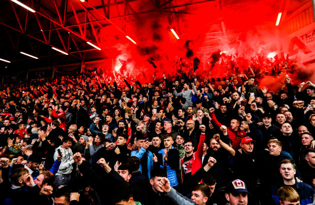 Bohemians fans before the game