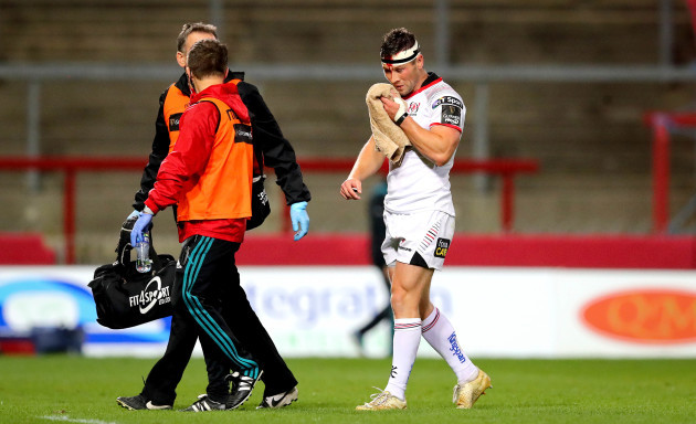 John Cooney goes off as a blood sub