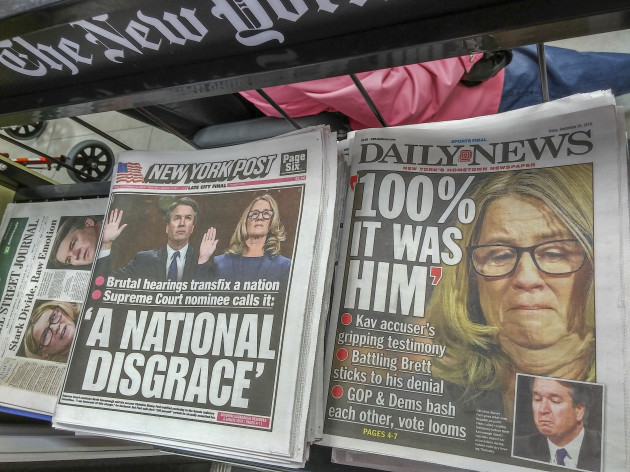 NY: New York papers report on Kavanaugh and Ford testimonies
