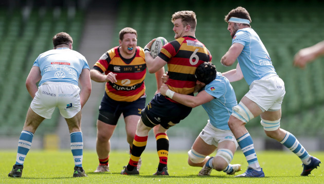 Jack O'Sullivan tackled by Darren Ryan