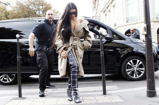 France: Kim Kardashian and her bodyguard Pascal Duvier in Paris