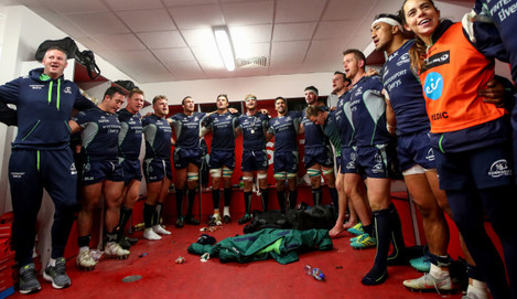 Connacht celebrate after the game