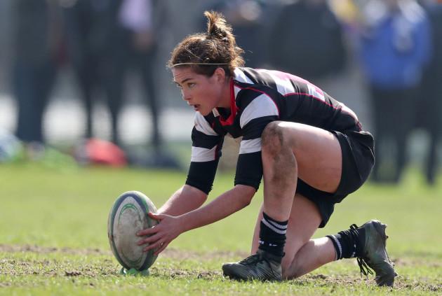 Nora Stapleton attempts a penalty kick