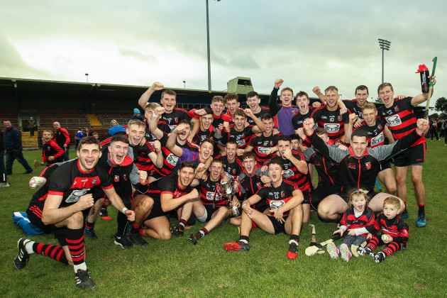 Ballygunner celebrate after the game with the trophy