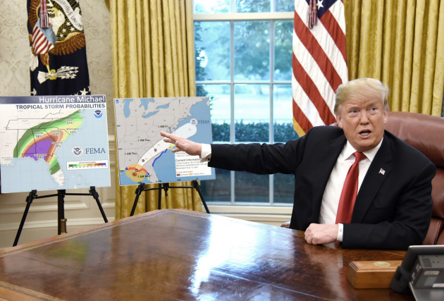 President Trump participates in a briefing on Hurricane Michael - DC