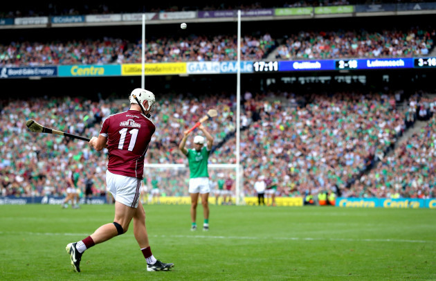 Joe Canning drops a late free into the square