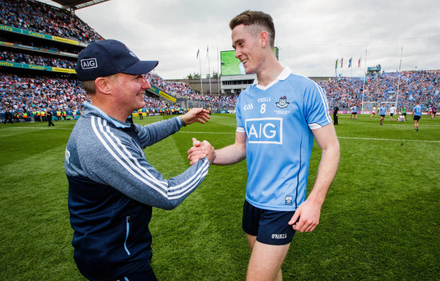Jim Gavin celebrates with Brian Fenton