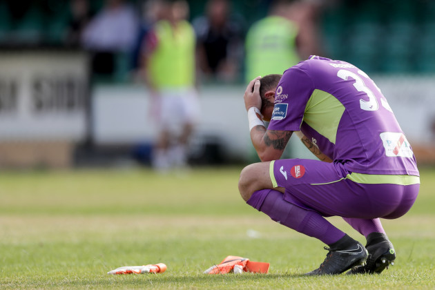 Mitchell Beeney dejected after the game