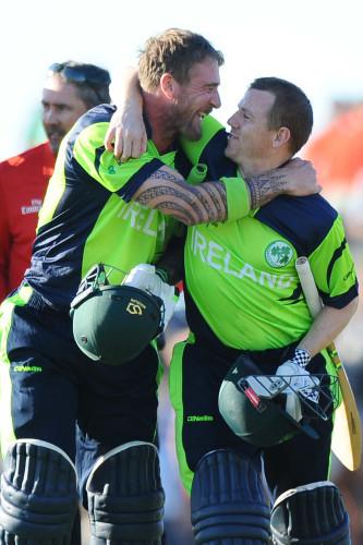 John Mooney and Niall O'Brien after the winning runs
