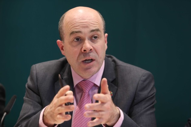 File Photo COMMUNICATIONS MINISTER DENIS Naughten is due to meet with management figures from Facebook in New York tomorrow to discuss revelations about the social media networkÕs approach to harmful or illegal content. End.