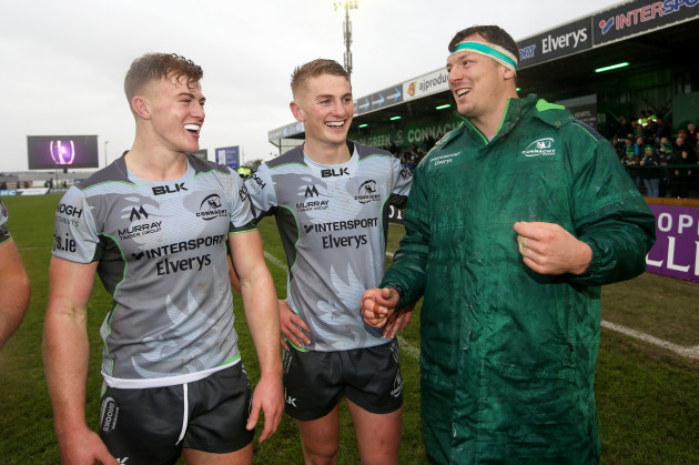 Robin Copeland with Conor Fitzgerald and Colm DeBuitlear after the game