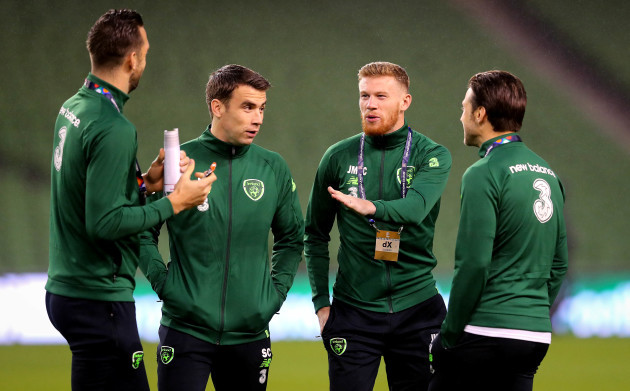 Seamus Coleman and James McClean