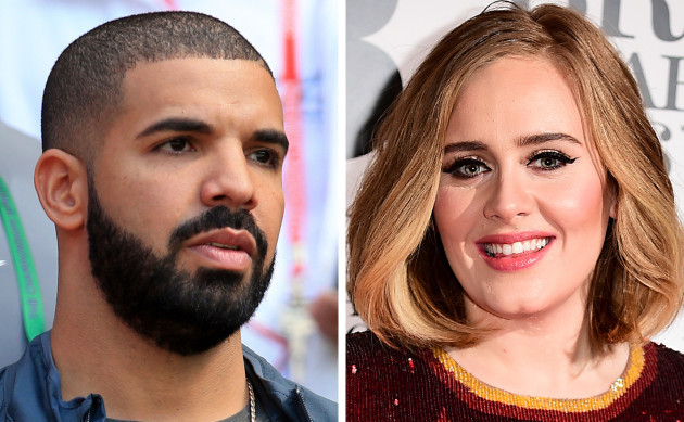 Adele attends Drake concert