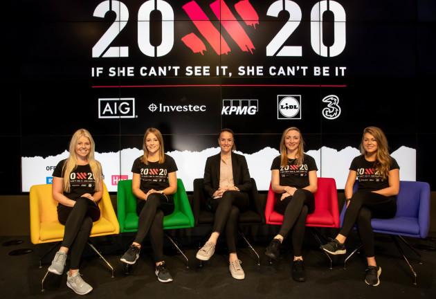 Stephanie Meadow, Laura Twomey, Casey Stoney, Louise Quinn, and Sarah Rowe 15/10/2018