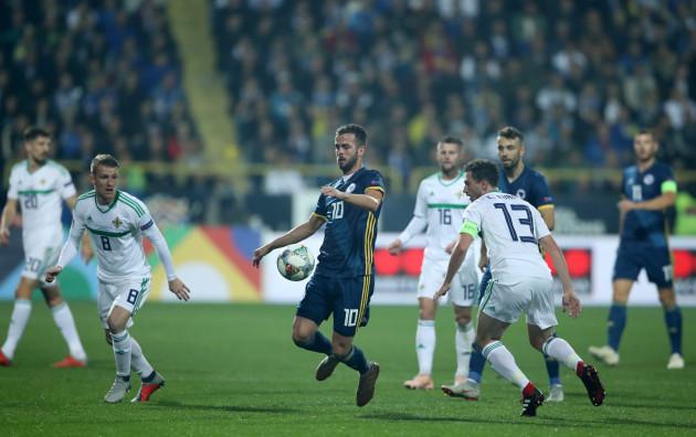 Bosnia and Herzegovina v Northern Ireland - UEFA Nations League - League B - Group 3 - Grbavica Stadium