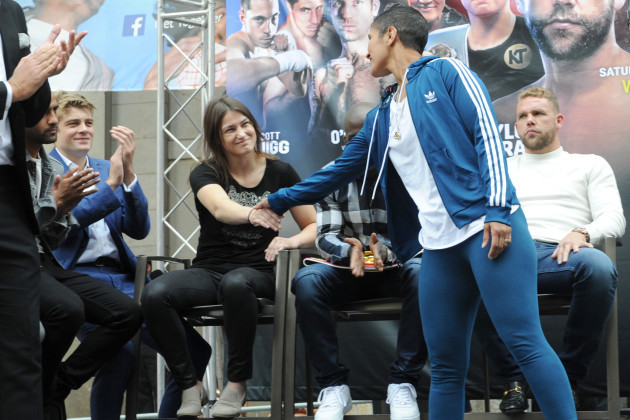 Cindy Serrano and Katie Taylor