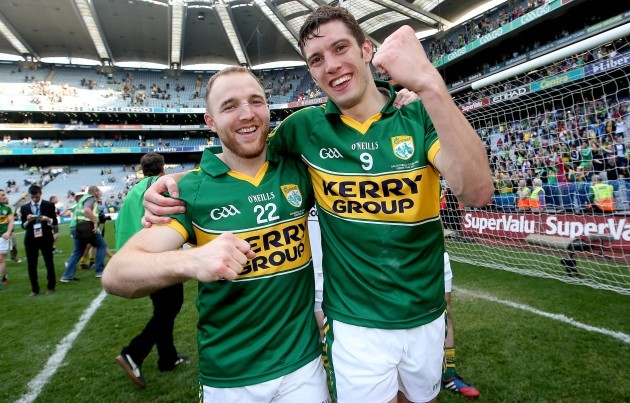 Darran O'Sullivan and David Moran celebrate
