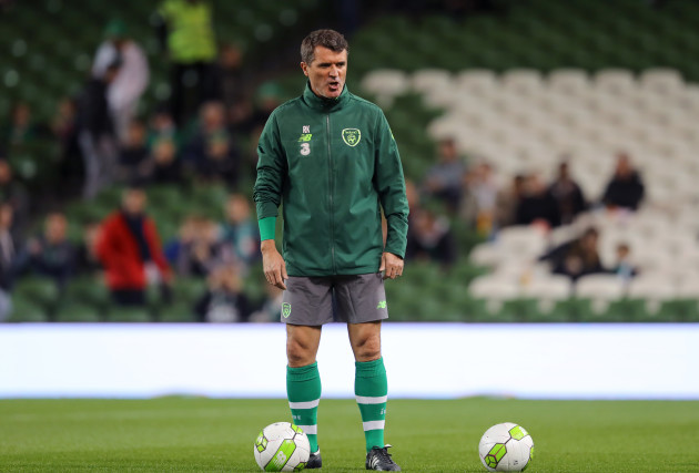 Roy Keane before the game