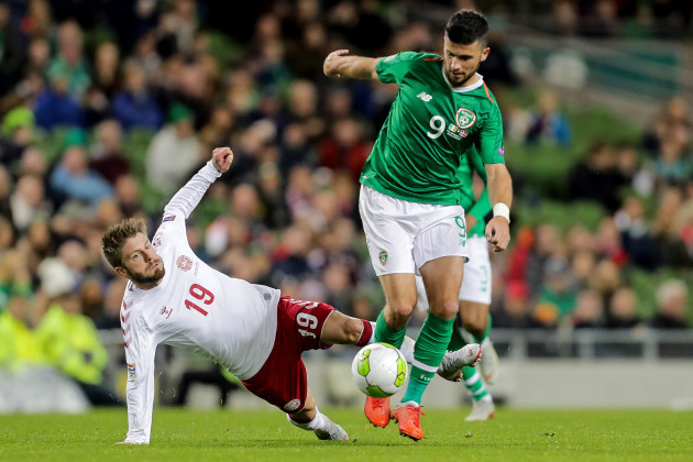 Shane Long and Lasse Schone