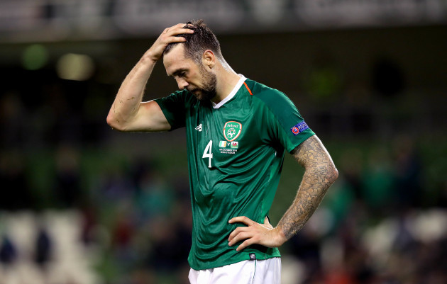Shane Duffy dejected