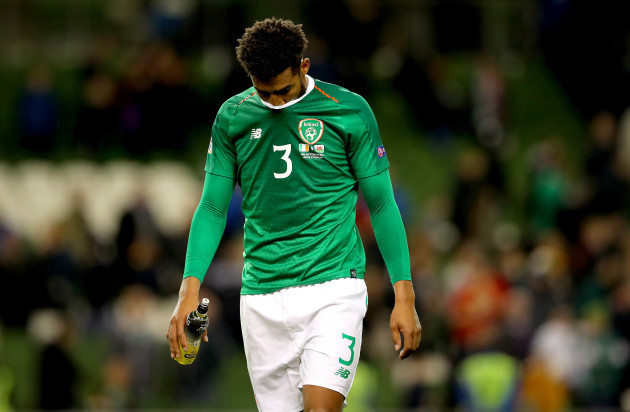 Cyrus Christie dejected after the game