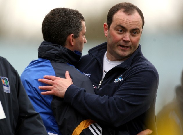 Liam Sheedy and Anthony Daly after the game