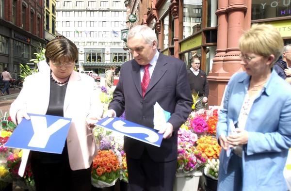 LtoR Tanaiste Mary Harney and Taoiseach Bertie Ahe