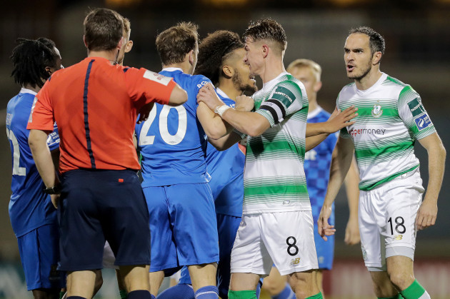 Tempers flare during the game