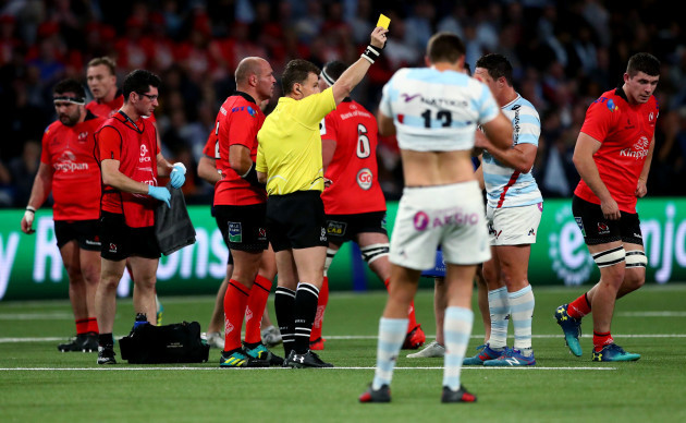 Nigel Owens yellow cards Nick Timoney