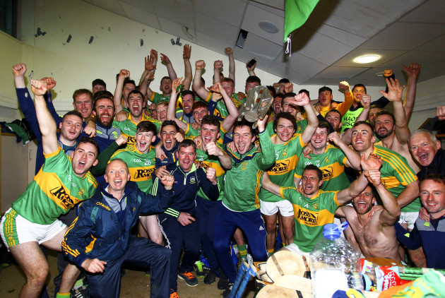Clonoulty-Rossmore's manager John Devane celebrates with his players