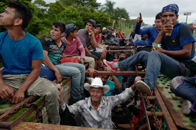 Honduran Migrant Caravan in Guatemala