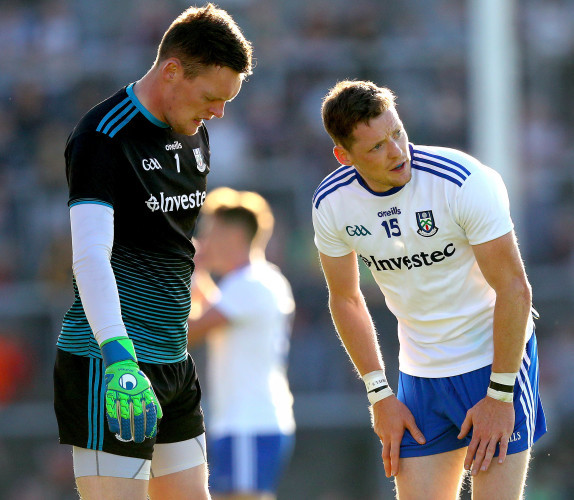Rory Beggan and Conor McManus discuss a free