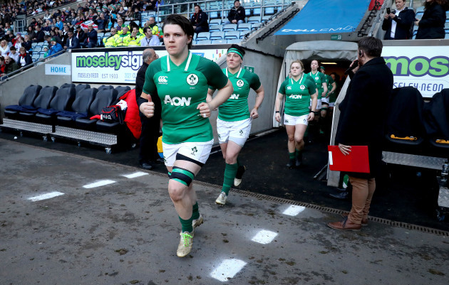 Ciara Griffin leads out her team