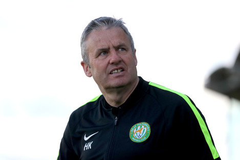 Bray Wanderers manager Harry Kenny