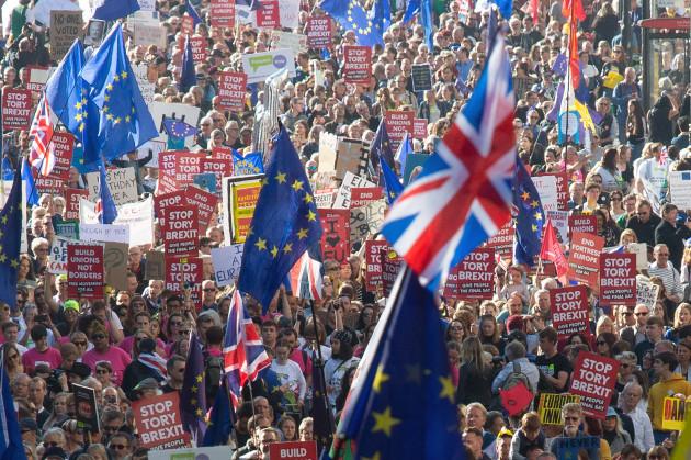 BRITAIN-LONDON-BREXIT VOTE-DEMONSTRATION