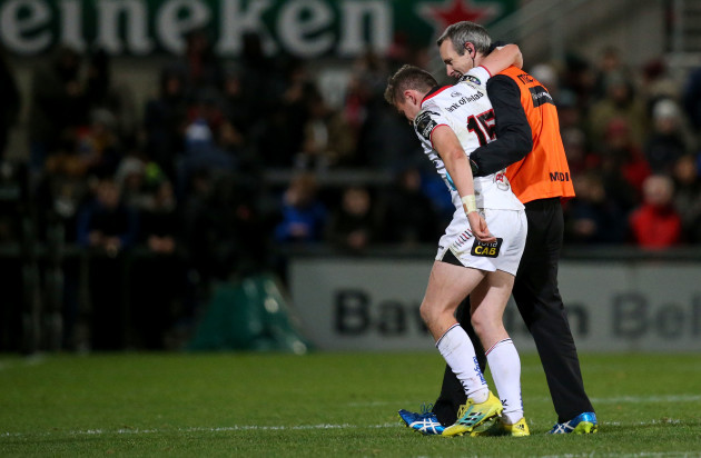 Michael Lowry comes off injured