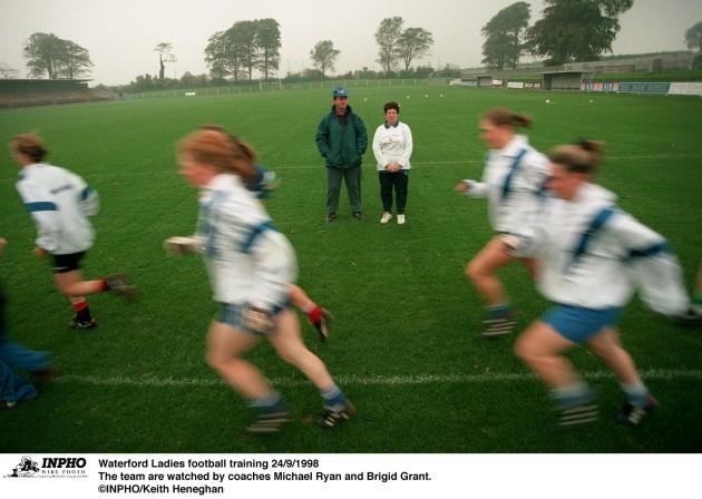 Waterford Ladies football training 24/9/1998