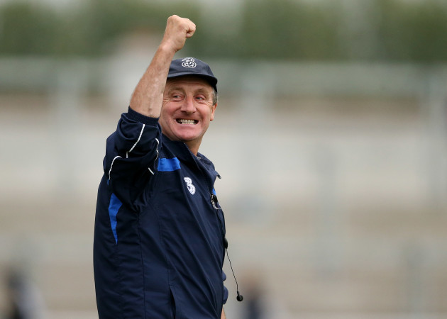 Michael Ryan celebrates after the final whistle