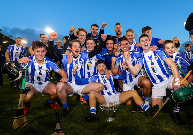 Ballyboden celebrate with the trophy