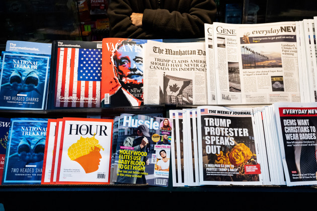 Misinformation Newsstand near Times Square