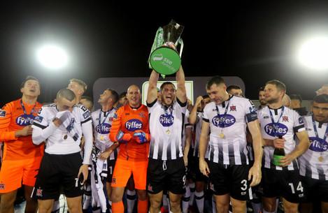 Patrick Hoban lifts the trophy