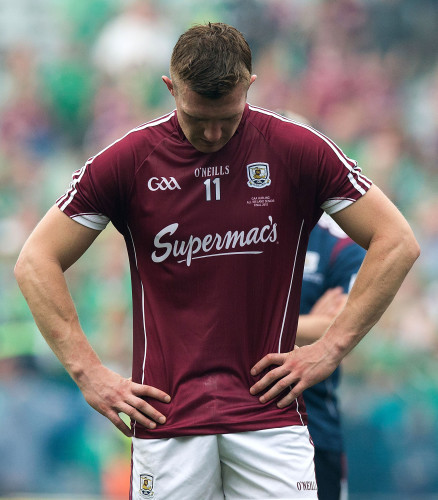 Joe Canning dejected at the end of the game