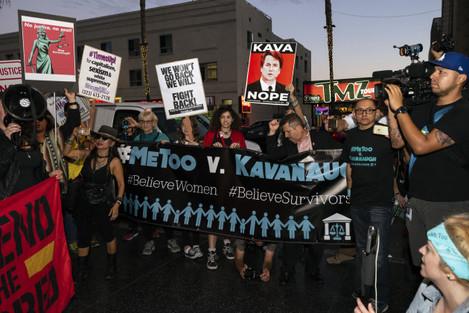 CA: MeToo Activists Protest Brett Kavanaugh in Los Angeles