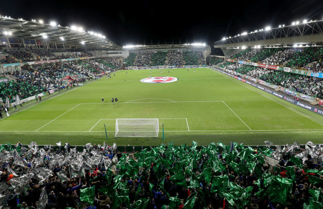 A view of Windsor Park before the game
