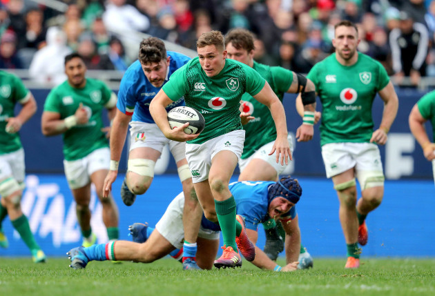 Superb Larmour hat-trick helps Schmidt s Ireland to big win over Italy 0114f17ba